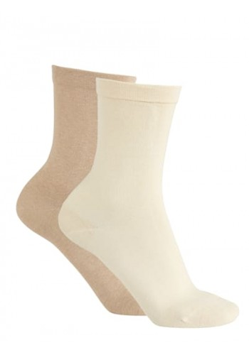 """11121- Dámske zdravotné ponožky """"GANZ OHNE GUMMI"""" - 2 páry/bal."""