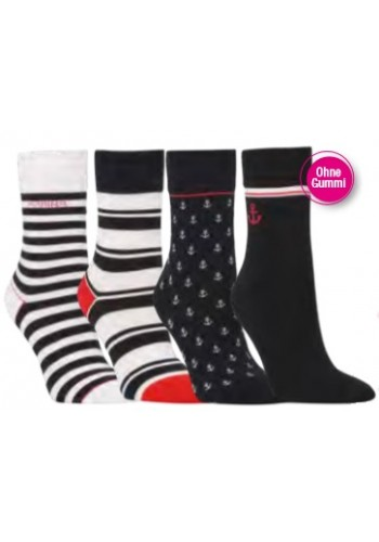 """11945- Dámske vzorované ponožky """"SEE & MEER""""- 3 páry/bal."""