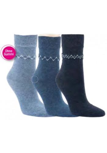 "11957- Dámske vzorované ponožky ""JEANS DESIGN"" - 3 páry/bal."