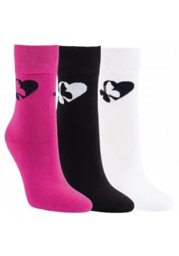 """11972- Dámske vzorované ponožky ,,HERZ"""" - 3 páry/bal."""