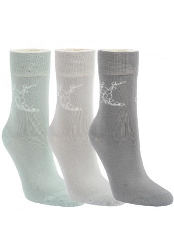 """11978- Dámske bambusové, vzorované ponožky """"VISKOSE BAMBUS"""" - 3 páry/bal."""