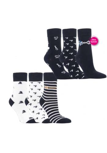 11987 - Dámske bavlnené ponožky - 3 páry/bal.