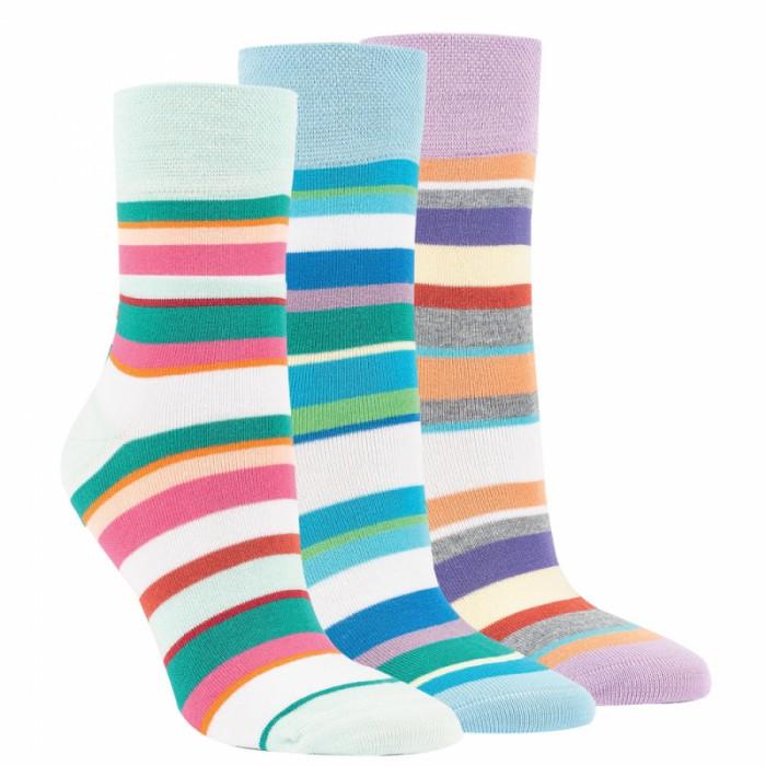 """11994 - Dámske bambusové ponožky """"FRESH STRIPES"""" - 3 páry/bal."""