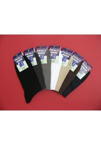 PRINCE Standard pánske oblekové hladké ponožky 100% bavlna