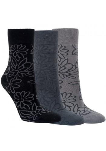"""12003 - Dámske bambusové vzorované ponožky """"BLUME"""" - 3  páry/bal."""