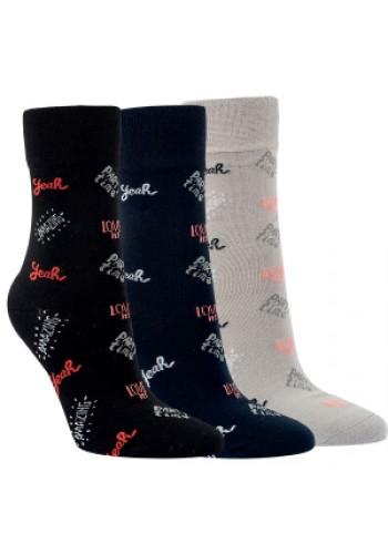 """12005 - Dámske bavlnené ponožky """"PARTY TIME"""" - 3 páry/bal."""