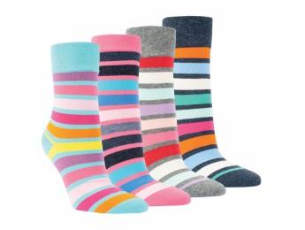 """12006 - Dámske bavlnené ponožky """"REGENBOGEN"""" - 3 páry/bal."""