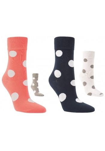 """12007- Dámske bavlnené ponožky ,,AUF DEM PUNKT""""-3páry/bal."""