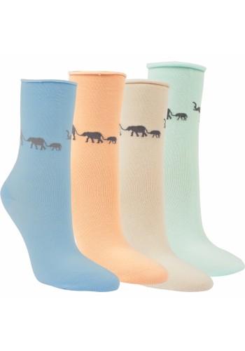 "12008- Dámske vzorované ponožky ,,AFRIKA""-3 páry/bal."