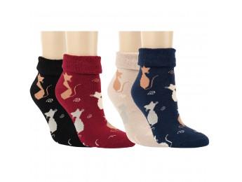 """12788 - Dámske termo ponožky """"SOFT CATS"""" - 2 páry/bal."""