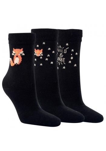 """12797 - Dámske hrubé bavlnené ponožky """"WILD"""" - 2 páry/bal."""