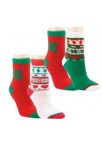 """12803- Dámske termo ponožky """"CHRISTMAS"""" - 2 páry/bal."""