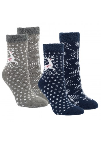 "12805 - Dámske termo ponožky ""HIRSCH DESIGN"" - 2 páry/bal."