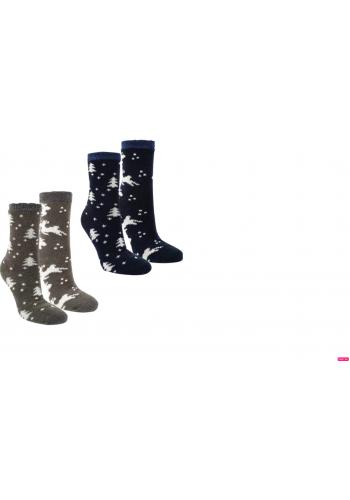 "12806 - Dámske termo ponožky ""HIRSCH DESIGN"" - 2 páry/bal."