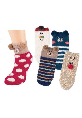 """22113- Detské domáce ponožky """"KIDS ANIMALS"""" - 1 pár"""