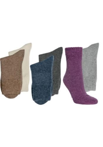 "13352- Dámske vlnené angora ponožky ""UNI""- 2 páry/bal."