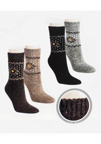 """13389 - Dámske vlnené angora ponožky """"EDELWEISS"""" - 2 páry/bal."""