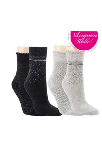 """13394- Dámske vlnené ponožky """"SCHNEEFALL""""- 2 páry/bal."""