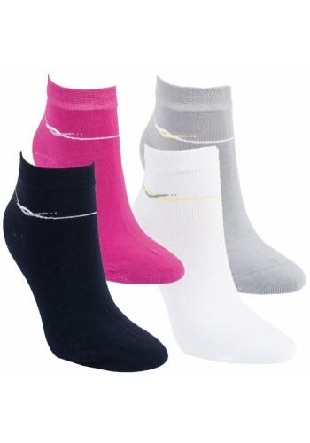 """15233-RS Dámske kotníkové ponožky ,,WELLE"""" - 3 páry/bal."""