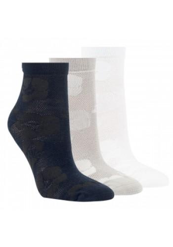 """15239 - Dámske bambusové, členkové ponožky """"LADY"""" - 3 páry/bal."""