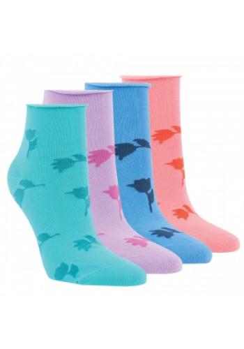 """15243 - Dámske členkové ponožky """"TULPEN""""  - 3 páry/bal."""
