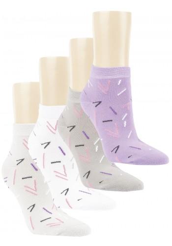 """15244 - Dámske členkové ponožky """"STROKES & ARROWS"""" - 3 páry/bal."""