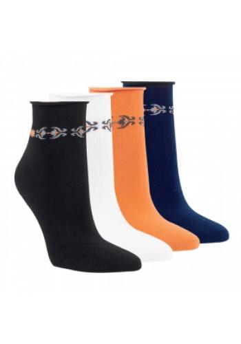 "15245 - Dámske členkové ponožky ""TRIBAL"" - 3 páry/bal."