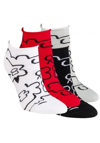 "15286- Dámske vzorované kotníkové ponožky ""ROLLRAND"" - 3 páry/bal."