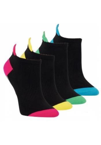 """15312- Dámske elastické ťapky ,,BLACK&COLOR"""" -  3 páry/bal."""