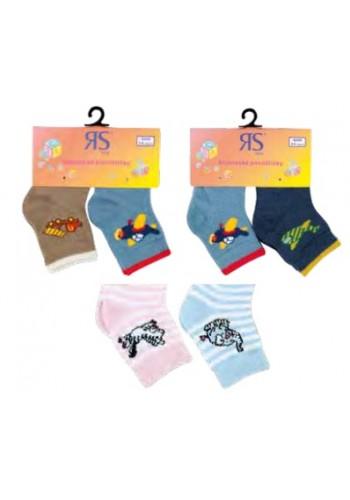20002- Dojčenské bavlnené ponožky - 2 páry/bal.