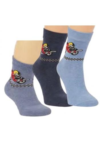 """20813-Detské vzorované ponožky """"RALLYE"""" - 3 páry/bal."""