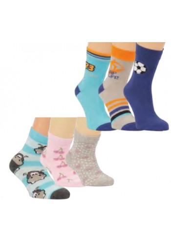"""20814 A- Detské vzorované ponožky """"FASHION""""  - 3 páry/bal."""