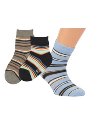 """20817- Detské vzorované ponožky  """"RINGEL""""- 3 páry/bal."""