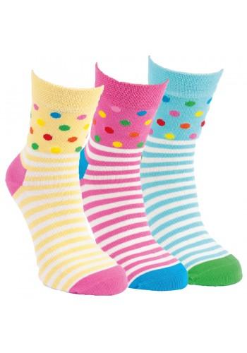 "20824-RS Detské bavlnené ponožky ,,KONFETTI"" - 3 páry/bal."