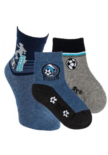 """20825-Detské bavlnené ponožky ,,SOCCER"""" - 3 páry/bal."""