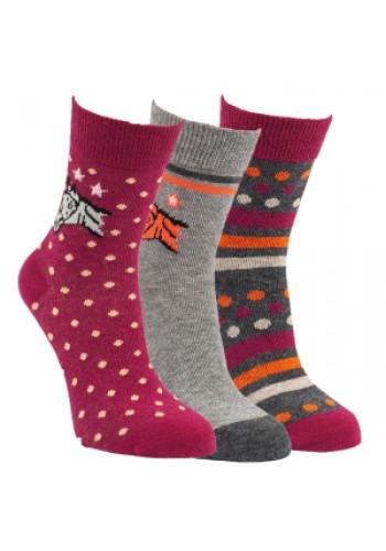 """20829 - detské bavlnené ponožky """"PFERD"""" - 3 páry/bal."""