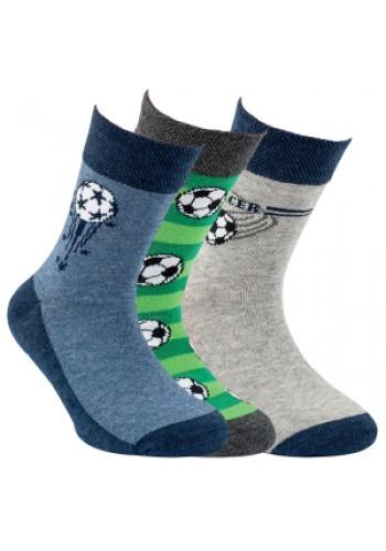 """20854 - Detské ponožky """"SOCCER""""- 3páry/bal."""