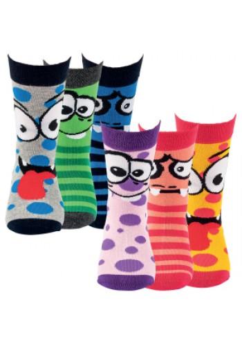 """20859 - Detské ponožky """"FACE""""- 3 páry/bal."""