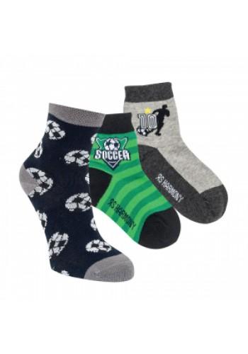 "20860 - Detské bavlnené ponožky ""SOCCER LEAGUE""- 3 páry/bal."