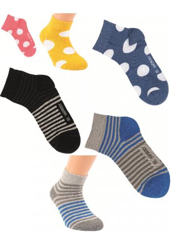 """21112- Detské skrátené ponožky """"RINGEL & PUNKTE""""-3páry/bal."""