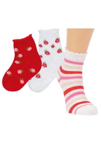 """21147- Detské skrátené ponožky """"ROSENGARTEN"""""""