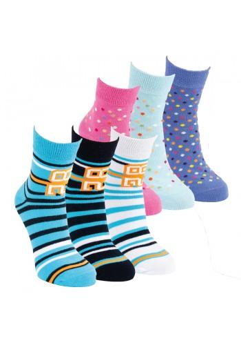 """21154- Detské skrátené  ponožky """"RINGEL &PUNKT"""" - 3 páry/bal."""