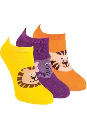 "21234- Detské bavlnené ťapky ""ZOO"" - 3 páry/bal."