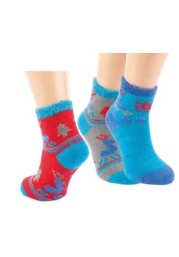 "22115- Detské domáce extra teplé protišmikové ABS ponožky ""RENTIER""- 1pár"