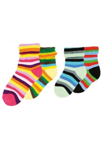 "22117- Detské farebné froté ponožky ""UMSCHLAG"" - 2 páry/bal."