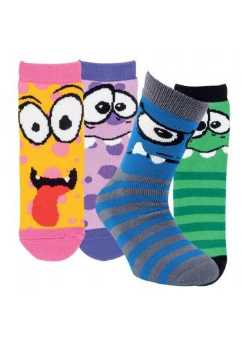 """22118 - Detské froté ponožky """"MONSTER""""-2páry/bal."""