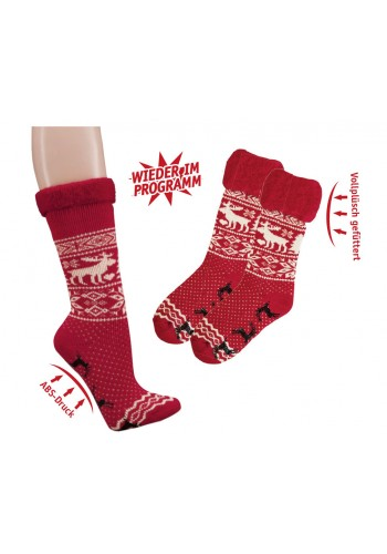 """2257 - Dámske plyšové ponožky """"NORWEGER"""" - 2 páry/bal."""