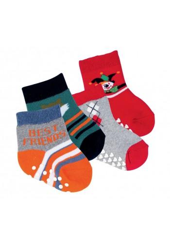 """24574- Dojčenské froté protišmikové ponožky  """"ABS ANTI-RUTSCH"""" - 2 páry/bal."""
