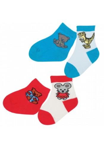 """24580 - Dojčenské ponožky """"HAPPY ANIMALS"""" - 2 páry/bal."""