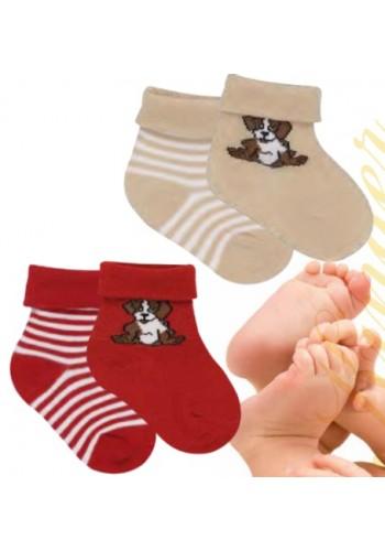 """24589- Dojčenské ponožky """"BELLO"""" - 2 páry/bal."""